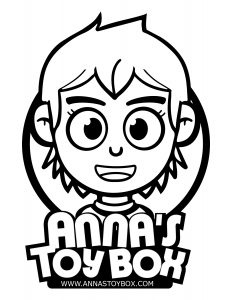 Anna's Toy Box Mascot Coloring Page