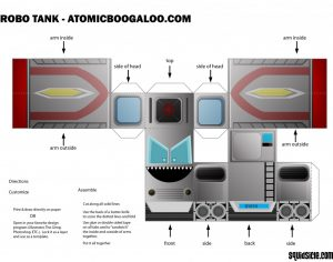Robot Tank Paper Model Print out
