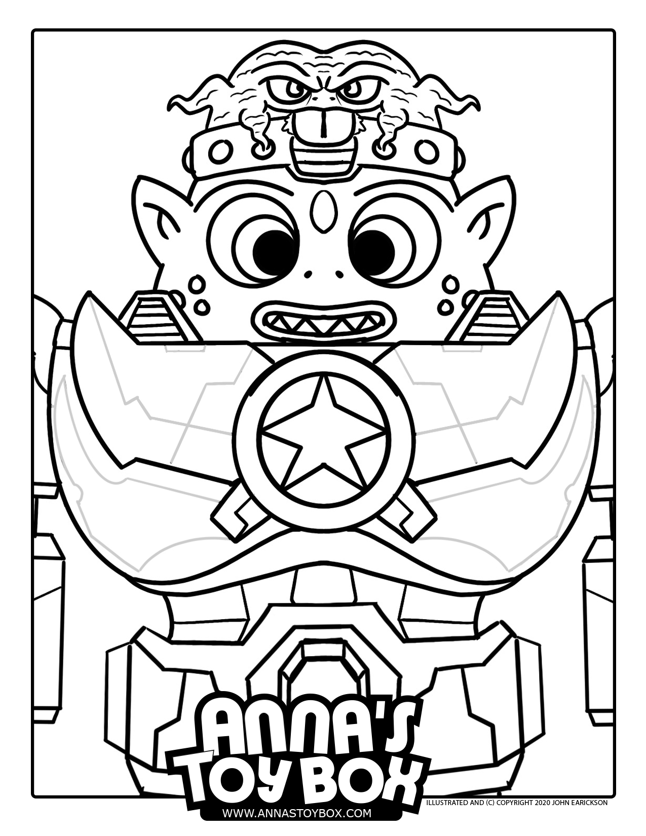 Alien Robot Warrior Coloring Page