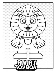 Cartoon Lion Coloring Page